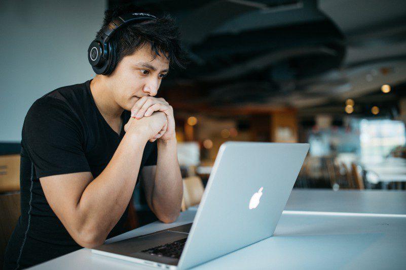 Tips For Solopreneurs Never Stop Learning Online Education Man Headphones Laptop Solopreneur