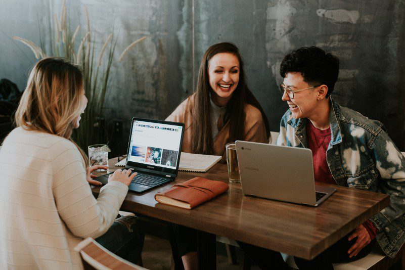 Tips For Solopreneurs Team Enjoys Collaboration Talk Office Startup