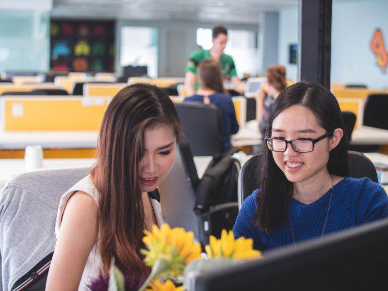 Tips For Solopreneurs Two Women Working In Office