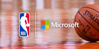 Microsoft NBA Cooperation News Azure User Experience Custimer Journey Logo Spalding Basket Ball Crop