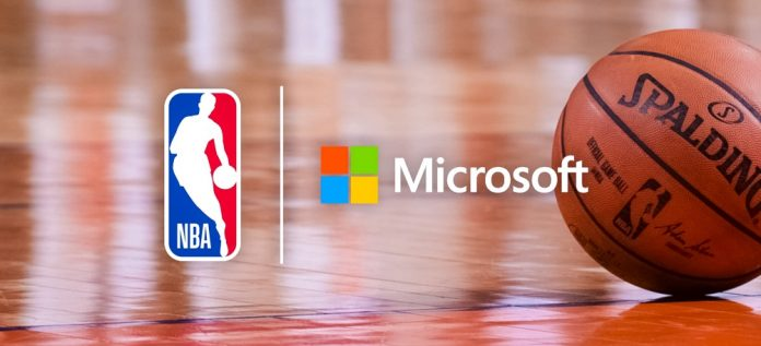 Microsoft NBA Cooperation News Azure User Experience Custimer Journey Logo Spalding Basket Ball Crop