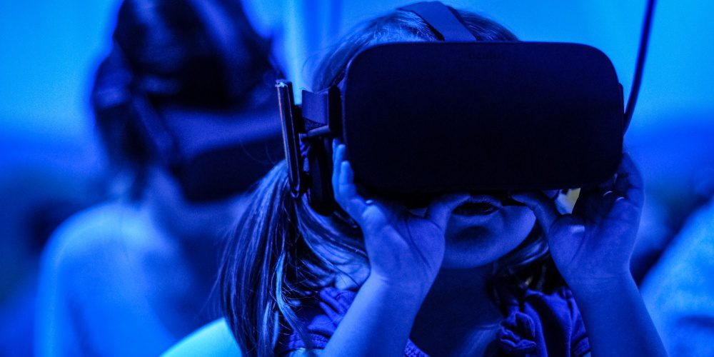Young Child Girl Using VR Headset Social Media Digital Identity Parents Guide Tips Article