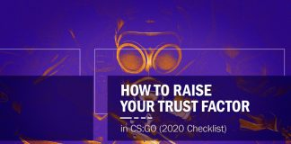 CS:GO Raise Trust Factor 2020 Checklist Header