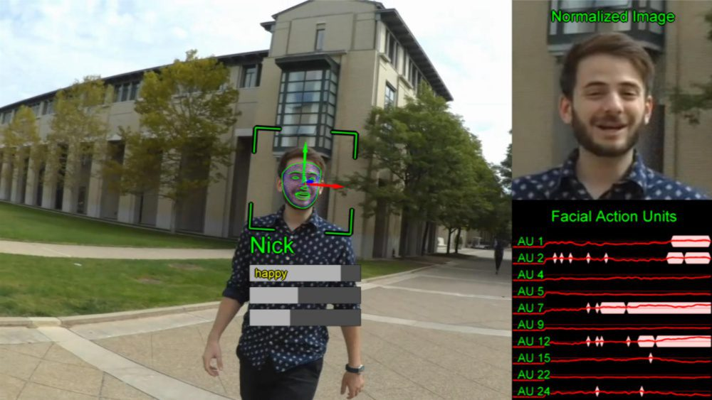 IBM Research Chieko Asakawa relies on her cognitive assistant app to help her identify who is in front of her and what is his emotion