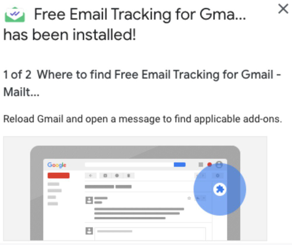 Mailtrack Instructions Step 5