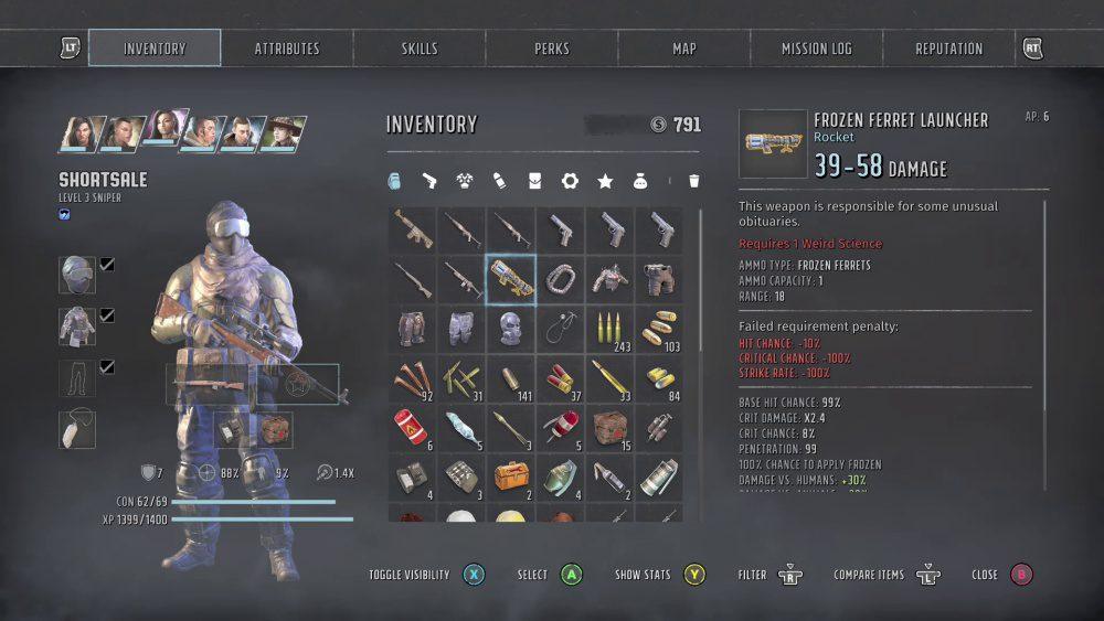 Wasteland 3 Review Screenshots Inventory