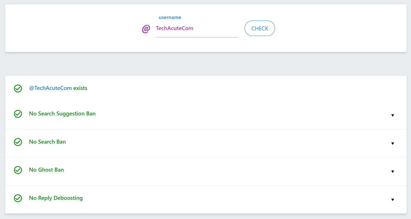 TechAcute Check Shadowbanned On Twitter Or Not