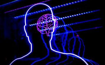 BCI Brain Interface Technology Lights Blue Human Dark