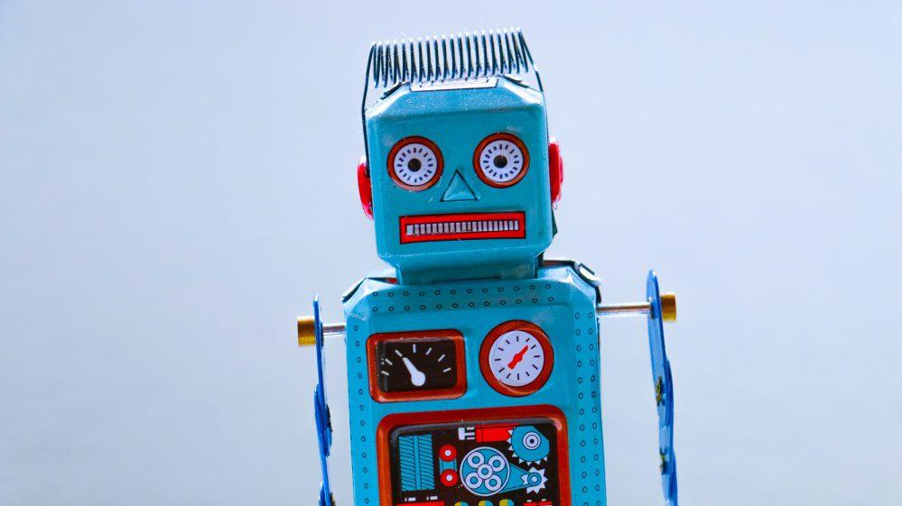 Metal Tin Toy Robot Bots Photo