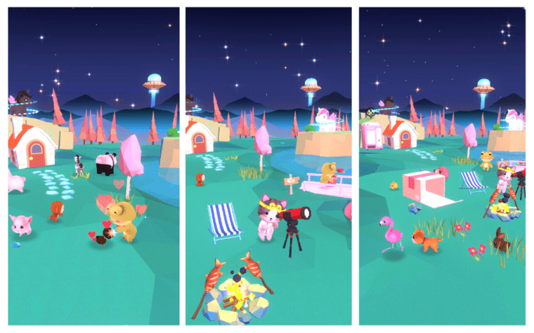 Starry Garden Animal Park Mobile Game Gameplay cute adorable collect pets constellations