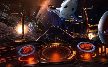 Elite Dangerous Virtual Reality Immersive Gaming Cockpit DIY Projection Project Basement Crop