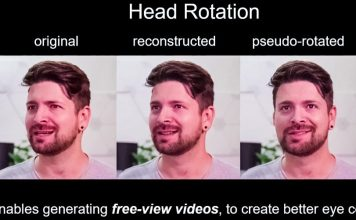 Neural Talking-Head Video Synthesis Meets Video Conferencing Head Rotation NVIDIA