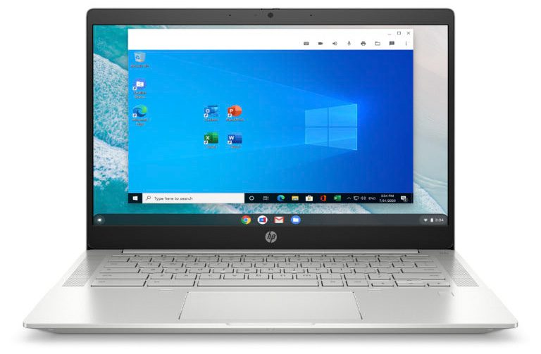 Parallels Desktop for Chromebook Enterprise is available on Chromebooks powered by Intel Core i5 and i7 processors, including the HP Pro c640 Chromebook Enterprise, the HP Elite c1030 Chromebook Enterprise and HP Chromebox G3