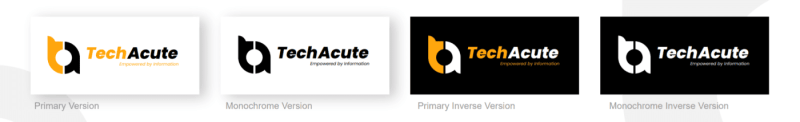 TechAcute Rectangular Horizontal Logo Variations 2021