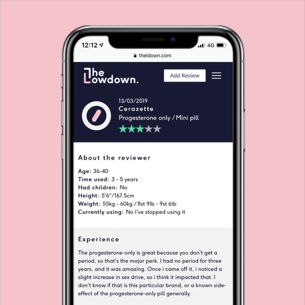 The Lowdown Birth Control Review Platform Example Smartphone