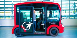 i-Cristal Transdev Autonomous Electric Shuttle Urban Transit Intel Vehicle Bus