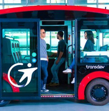 i-Cristal Transdev Autonomous Electric Shuttle Urban Transit Intel Vehicle Bus