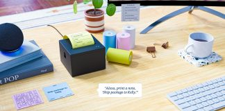 Amazon Alexa Brings Smart Sticky Note Printer Compatible with Alexa