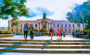 El Salvador Adopting Bitcoin - Insight and Context - San Salvador Plaza Gerardo Barrios y Palacio Nacional